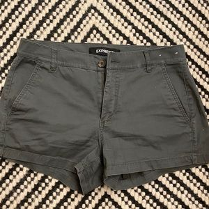 Army Green Shorts from Express